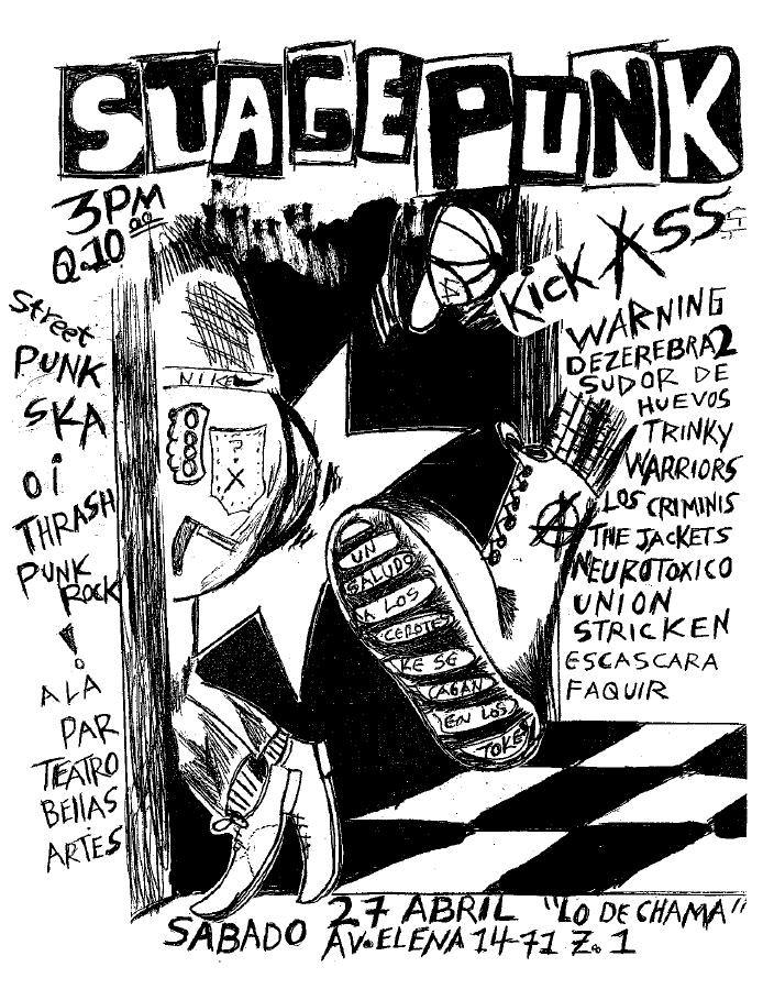 stage punk guatemala 27 abril