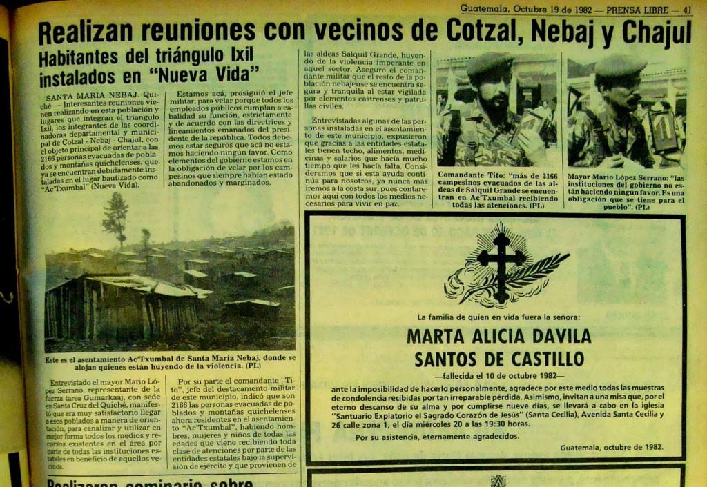ydigoras cotzal nebaj chajul quiche ixil otto perez molina